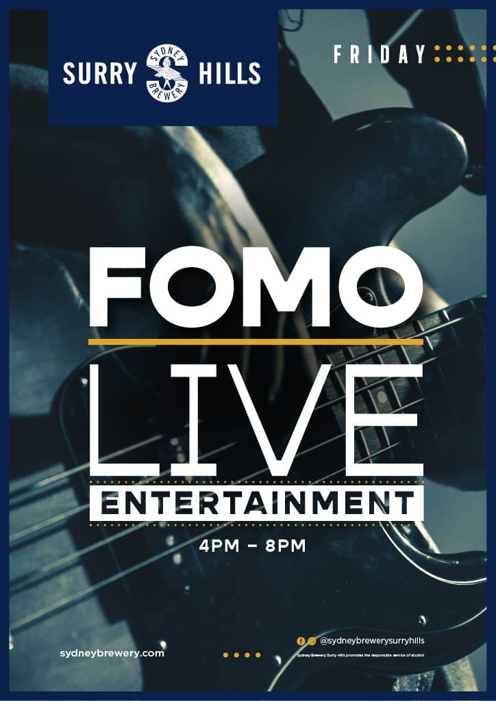 Friday Live Entertainment in Surry Hills