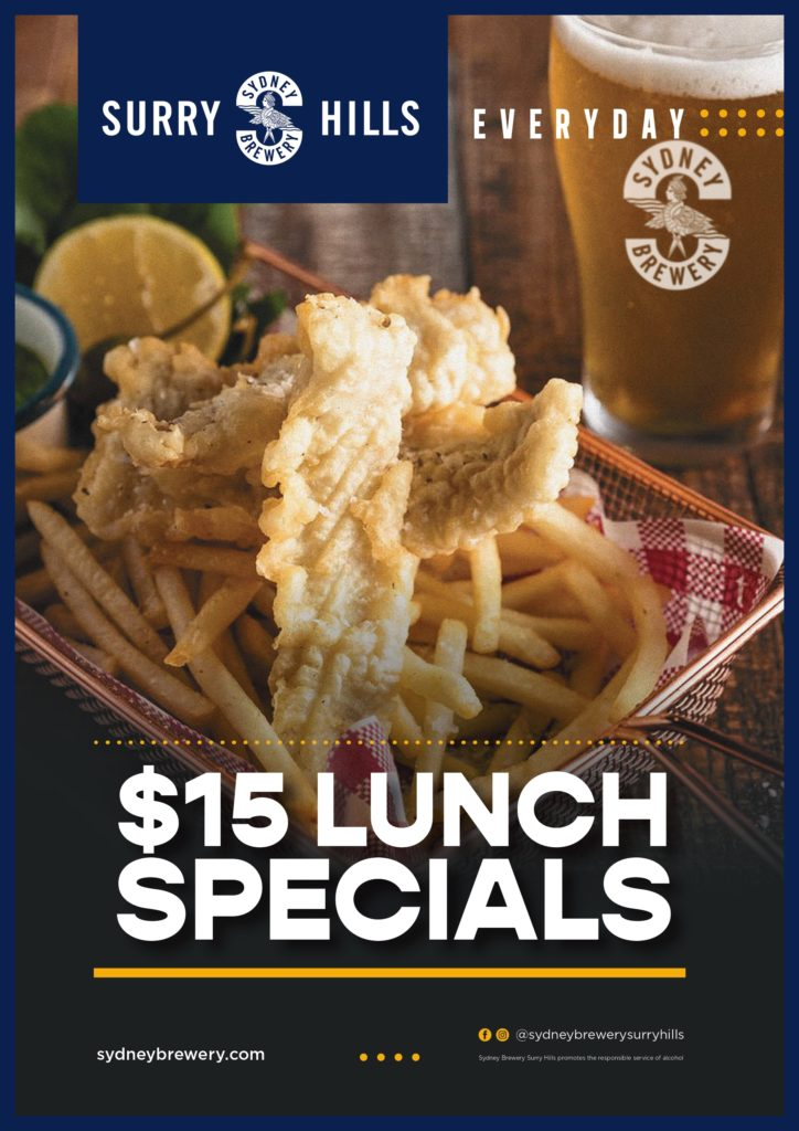 Lunch Specials Sydney Brewery Surry Hills