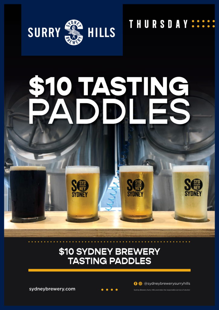 Beer Tasting Paddles Sydney Brewery
