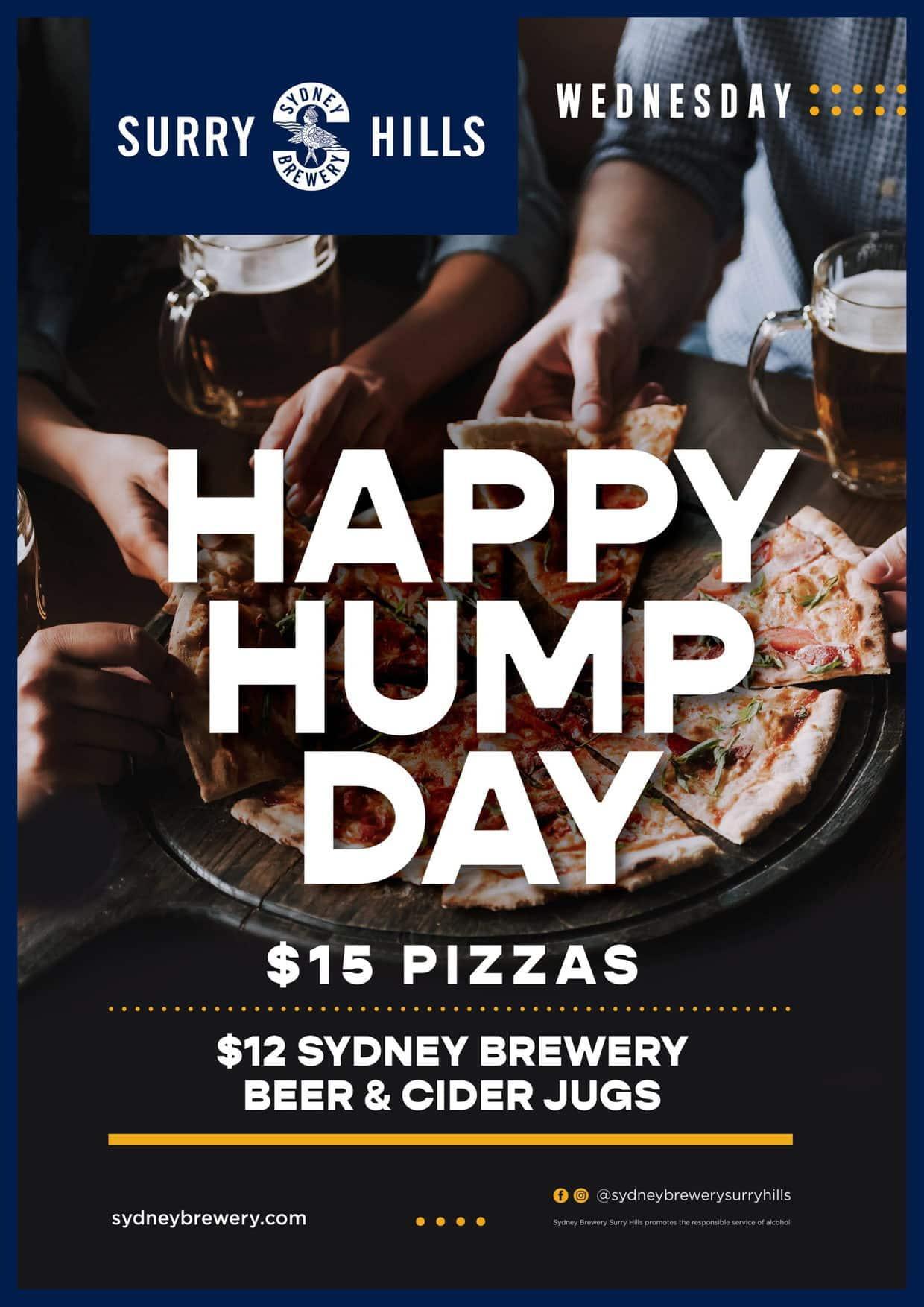 Wednesday Hump Day Sydney Brewery