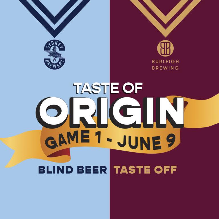 Sate of Origin Beer Tasting Battle - taste of origin
