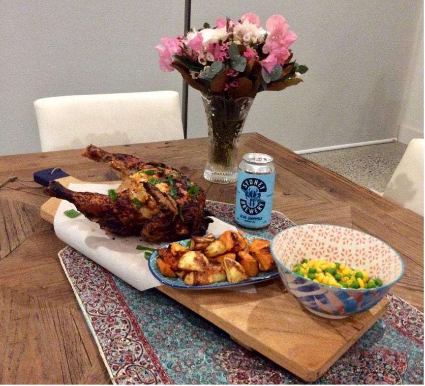 Sweet & Spicy Blue Swimmer Summer Ale Chicken
